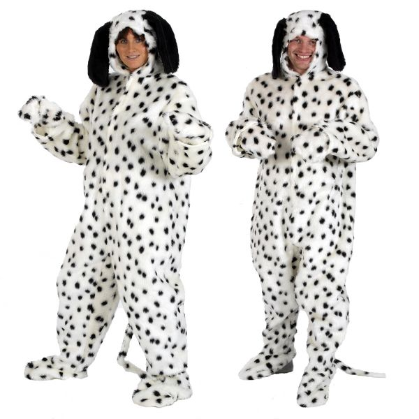 Adults Mens and Ladies Fur Dalmatian Dog Fancy Dress Up Costume